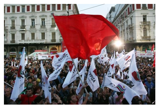 syriza-flags